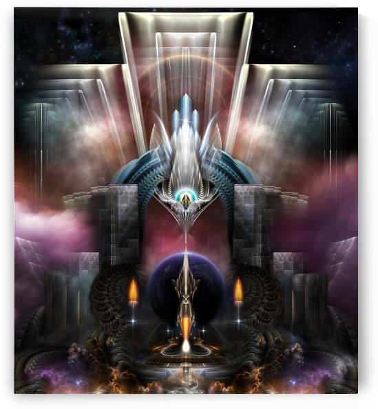 The Torrin Artifact Fantasy Fractal Art Structure by xzendor7