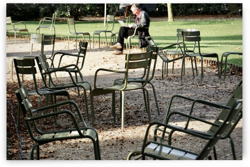 Chaises du Luxembourg   2 by Alain Harrus