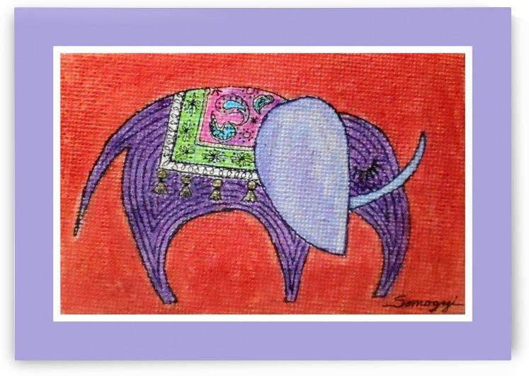 Pretty Pachyderm in frame by Jayne Somogy