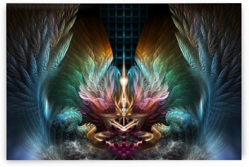 Wings Of Artillian Fractal Composition by xzendor7