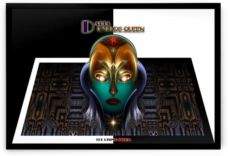 Daria Cyborg Queen The Rising Storm Fractal Art Portrait by xzendor7