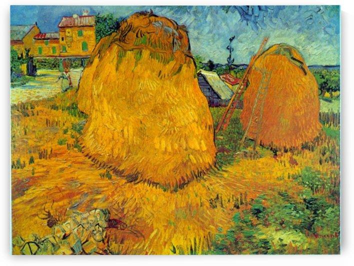 Haystacks by Van Gogh by Van Gogh