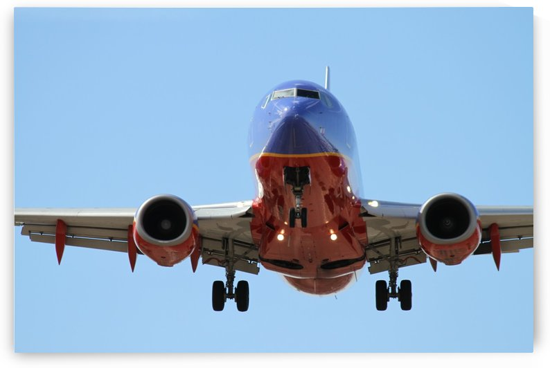Southwest Airlines Landing Phoenix Sky Harbor Airport by PKWilliamsPhotography