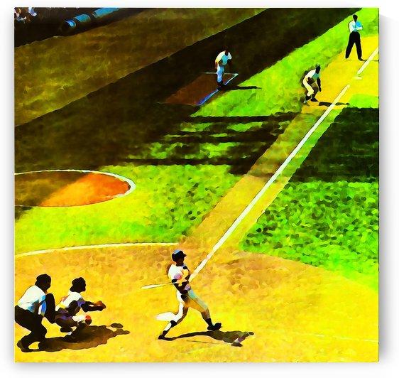 baseball watercolor art print (1) by Row One Brand