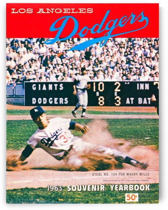 1963 LA Dodgers by Row One Brand