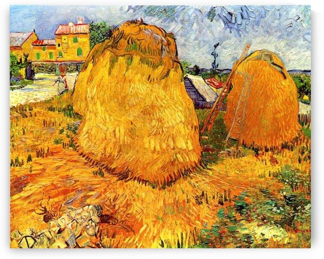 Haystacks in Provence2 by Van Gogh by Van Gogh