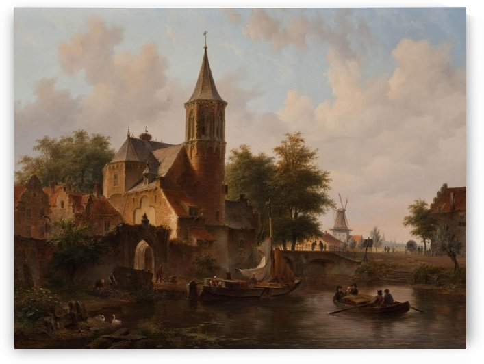 Stadsgezicht mogelijk Den Haag by Bartholomeus Johannes van Hove