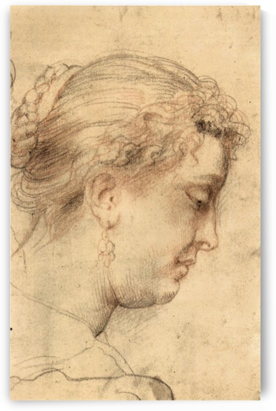 Head of a woman -1- by Rubens by Rubens