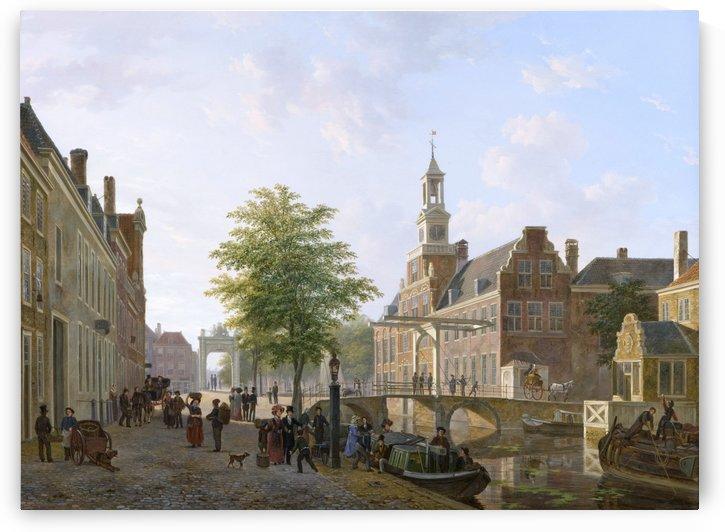 Gezicht op het Oude Vrouwen - en Kinderhuis aan het Zieken by Bartholomeus Johannes van Hove