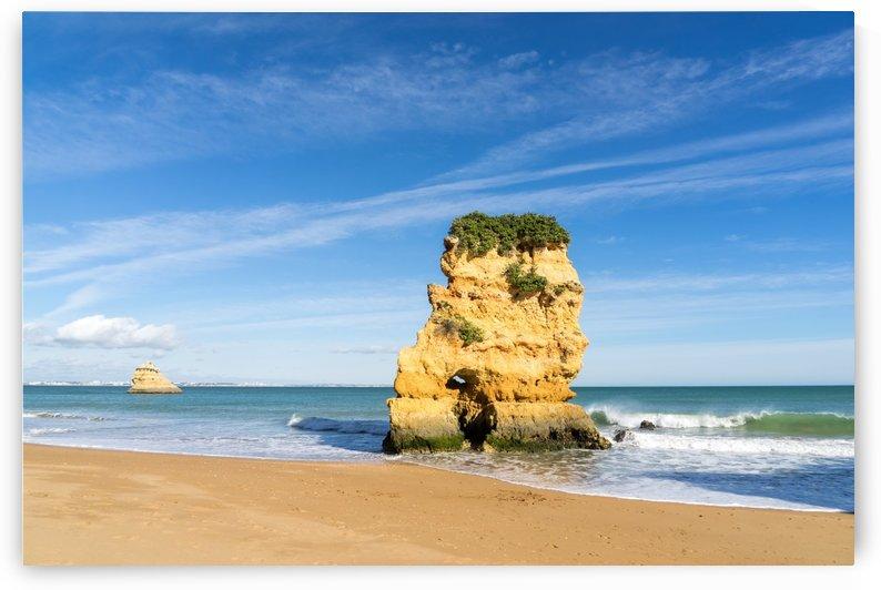 Gold Coast Algarve Classics - Seastack with Faces at Portimao Portugal by GeorgiaM