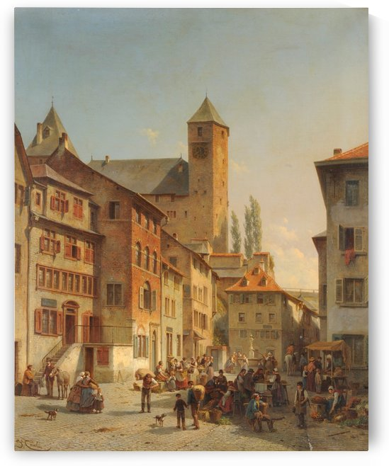 Belgian Continental Market by Bartholomeus Johannes van Hove