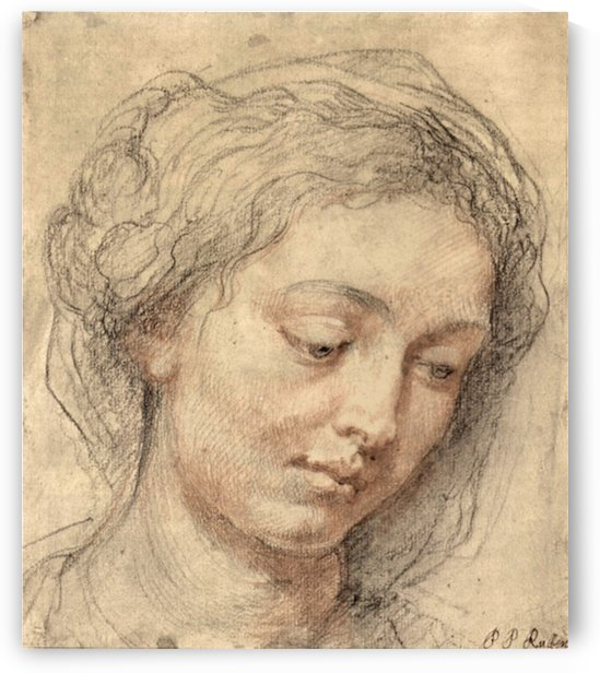 Head of a woman -2- by Rubens by Rubens