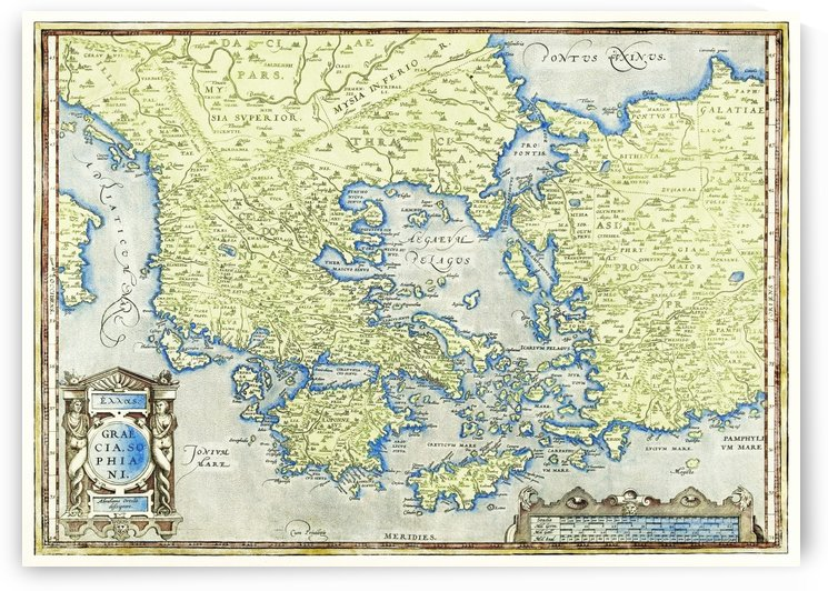 Map of Greece 1527–1598 by Four Beautiful Sunsets