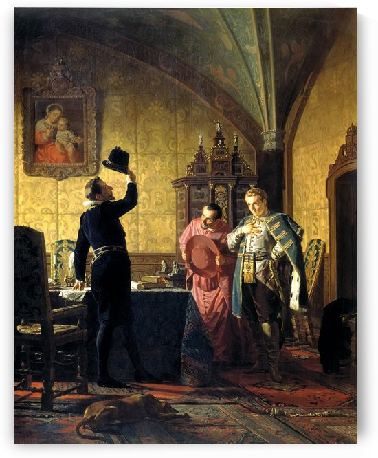 False Dimitry I swearing Sigismund III the introduction of catholicism in Russia by Nikolai Vasilyevich Nevrev