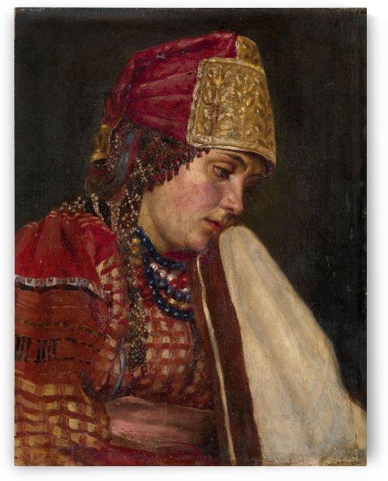 Portrait of a Boyarynya by Vasily Surikov