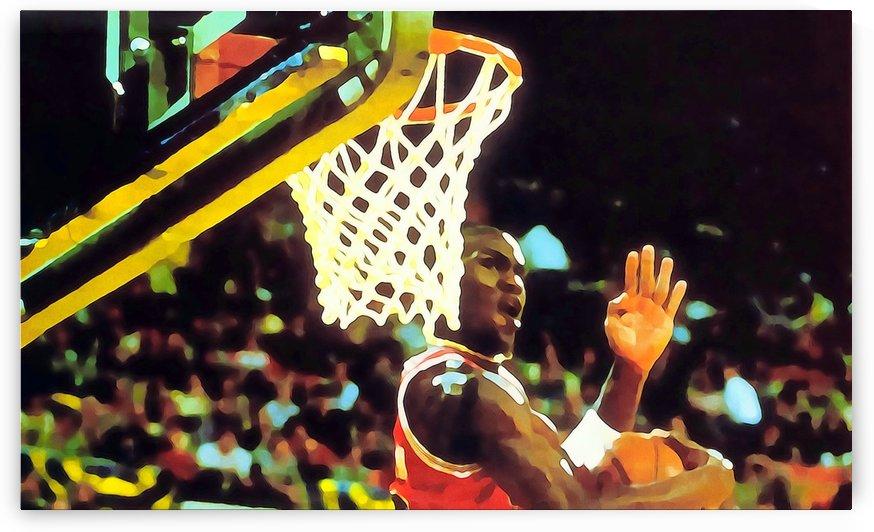 Michael Jordan Art_Dunk Contest Poster by Row One Brand