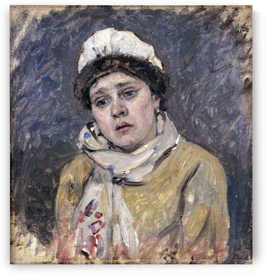 Frau des baertigen Bogenschuetzen anagoria by Vasily Surikov