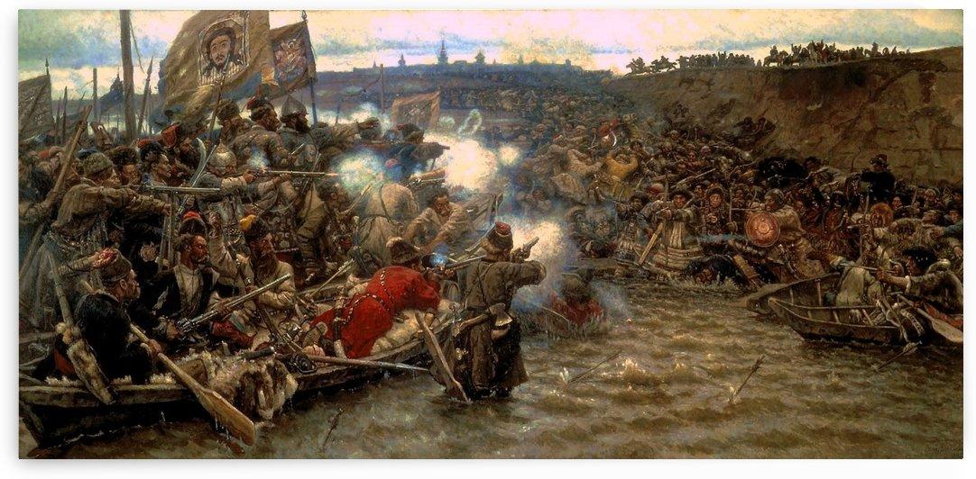 Yermak's conquest of Siberia by Vasily Surikov