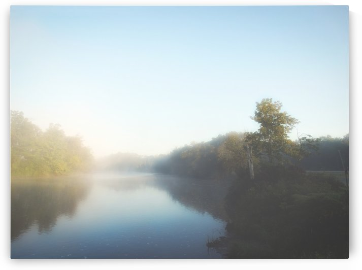 Fog on the River in the Mohawk Valley by RDCushing