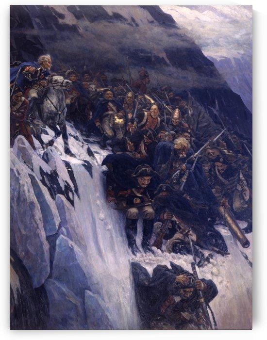 Suvorov Crossing the Alps in 1799 by Vasily Surikov