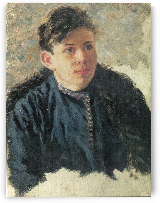 Portrait of young Leonid Chernyshev by Vasily Surikov