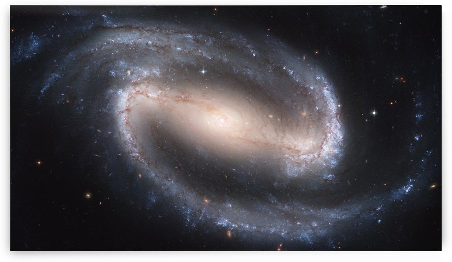 Barred Spiral Galaxy by Four Beautiful Sunsets