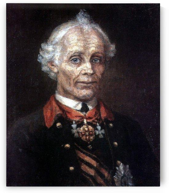 Portrait of Alexander Suvorov by Vasily Surikov