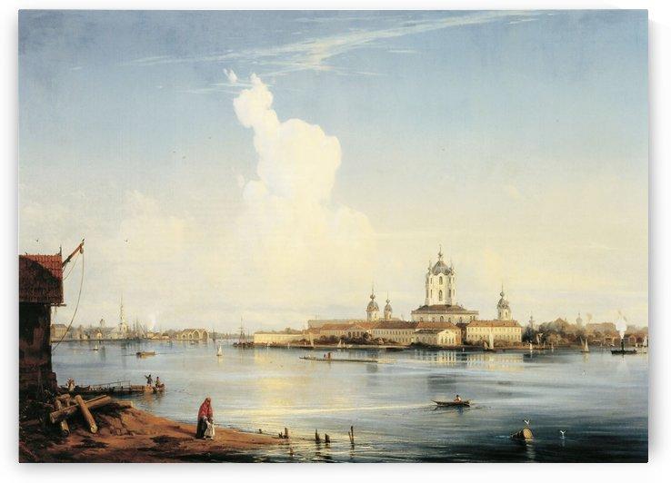 Smolny as seen from Bolshaya Okhta - 1852 by Alexey Bogolyubov