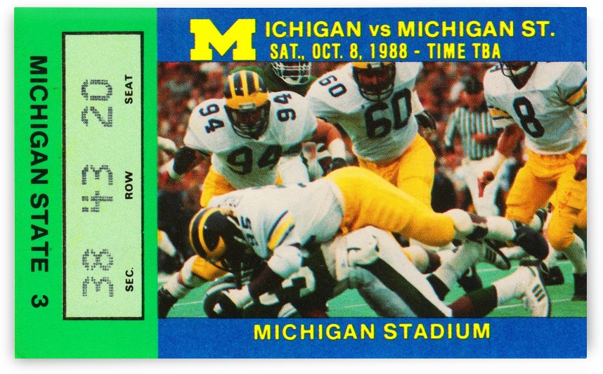 1988 Michigan State vs. Michigan by Row One Brand