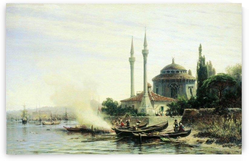Golden Horn in Constantinople by Alexey Bogolyubov