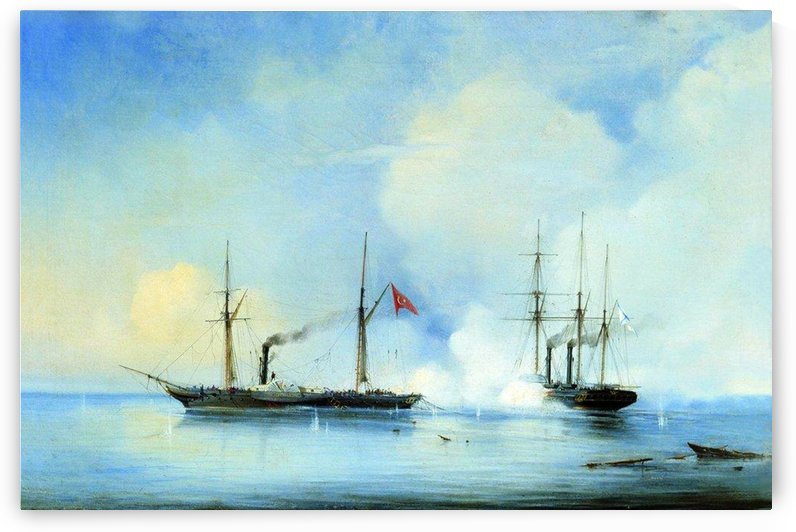 Battle ship-frigate Vladimir - November 5, 1853 by Alexey Bogolyubov