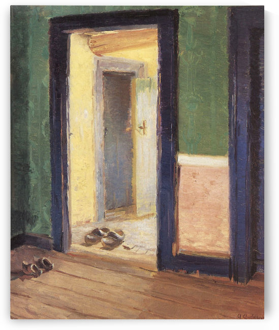 At lunchtime by Anna Ancher by Anna Ancher