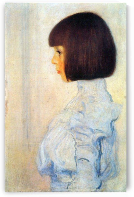 Helene Klimt portrait by Klimt by Klimt