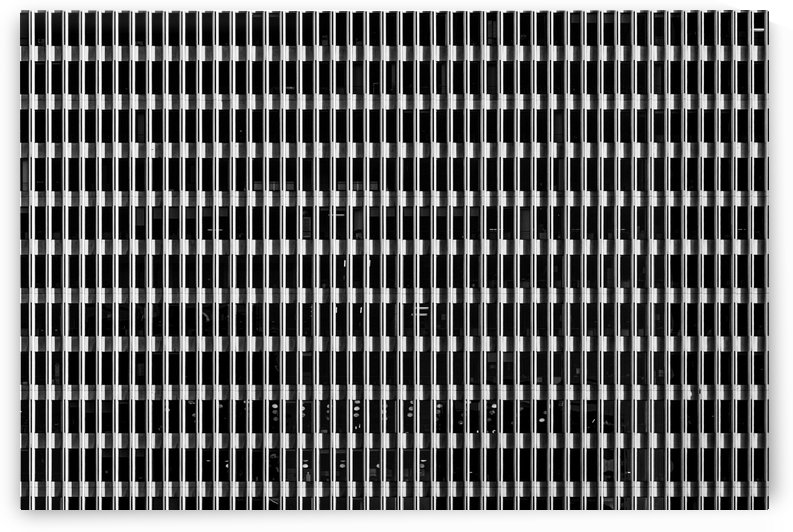 Black and White Skyscraper Windows by David Yoon