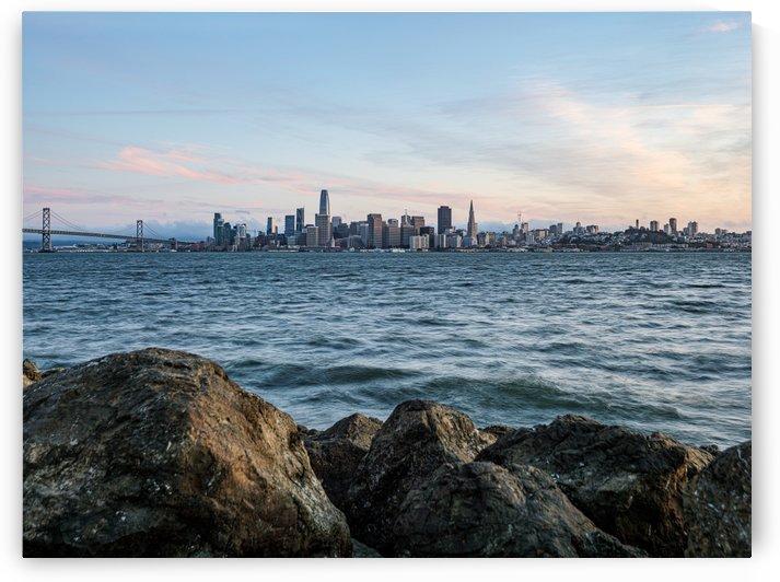 San Francisco City Skyline At Sunset by David Yoon