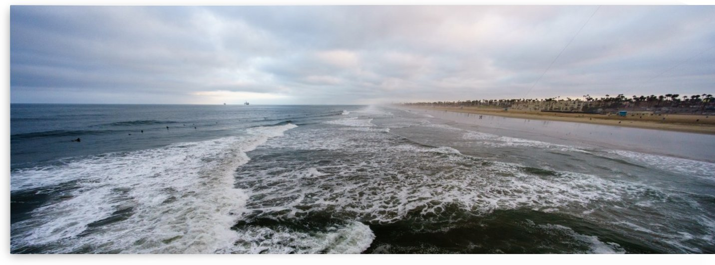 Huntington Beach Panorama by David Yoon