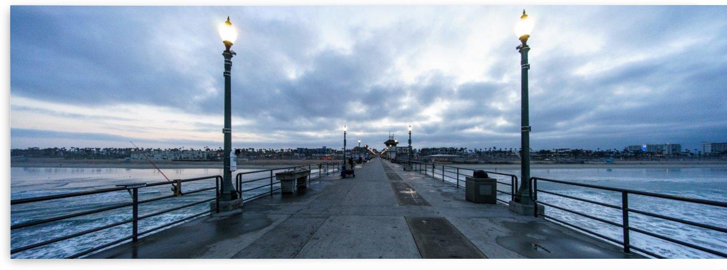Huntington Beach Pier Panorama by David Yoon