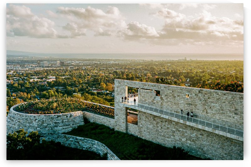 Sunset At The Getty by David Yoon