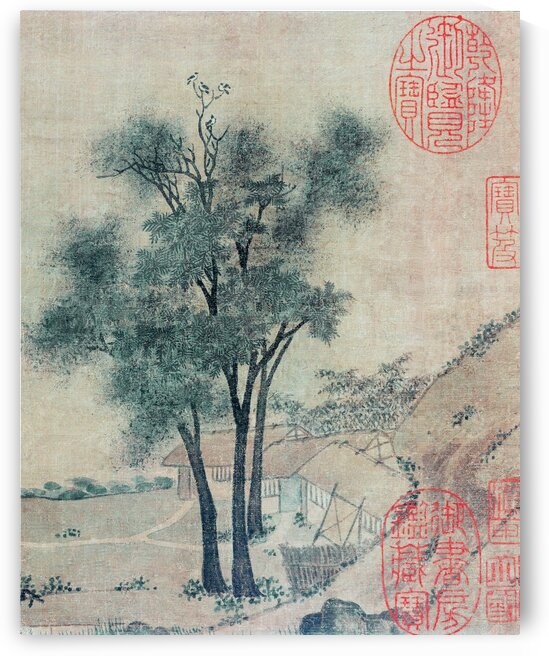 Chinese traditional landscape painting. Northern Song Dynasty painting by YongeArtStudio