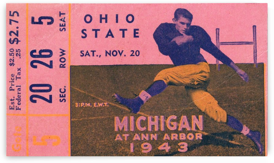 1943 Ohio State vs. Michigan by Row One Brand