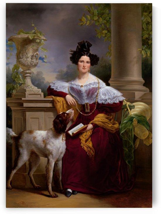 Portrait of Alida Christina Assink by Jan Adam Kruseman Fine Art Old Masters Reproduction by xzendor7