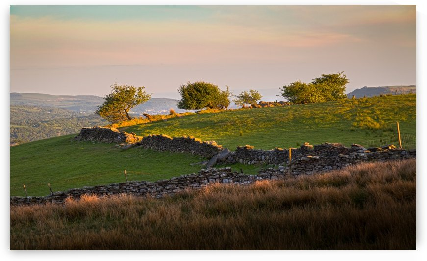 Brecon Beacons dry stone walls by Leighton Collins