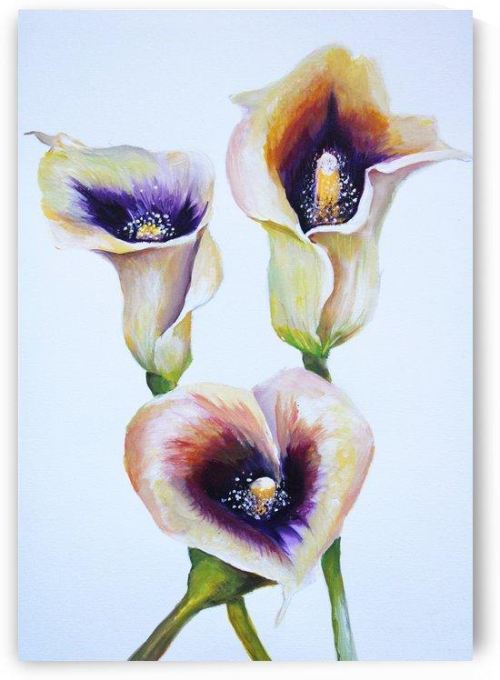 Arum Lilly Bouquet by Nisuris Art