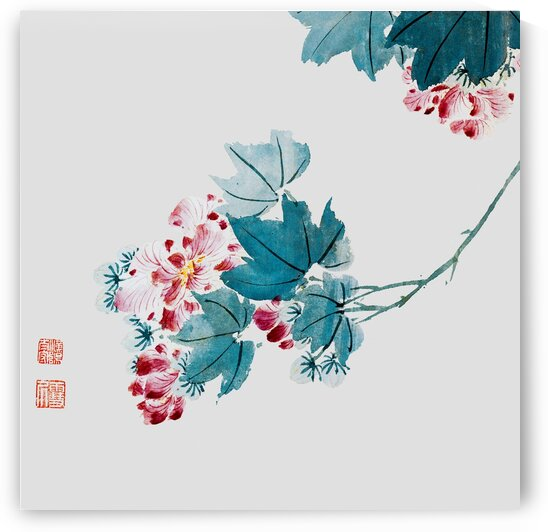 Chinese traditional flower-and-bird painting prints. Ming Dynasty paintings. Vintage art prints. Wall decor. Chinese traditional art prints 002. by YongeArtStudio