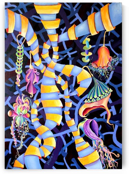 Watercolor Tropical Surrealism Orchids Painting by Nisuris Art