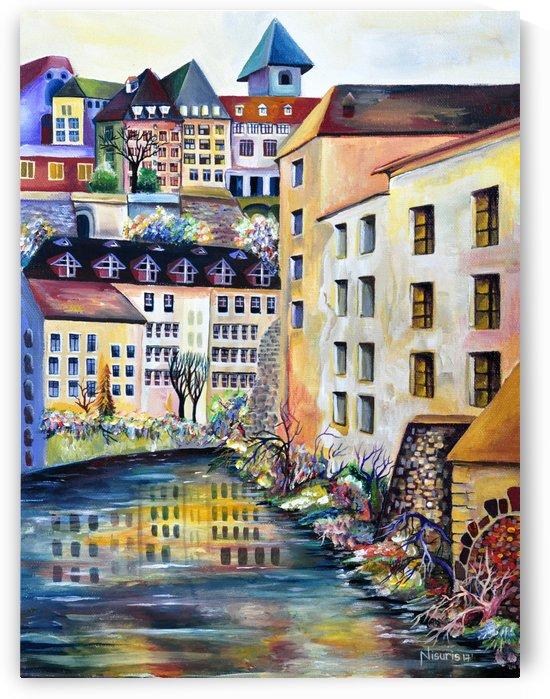 Sweden Stockholm Gamla Stan Watercolor by Nisuris Art