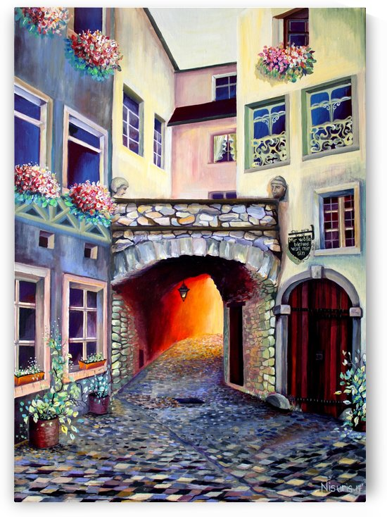 Brussels Cityscape Bohemian Painting by Nisuris Art