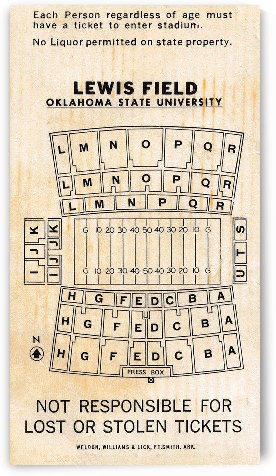 unique stillwater oklahoma gift ideas vintage osu cowboys lewis field map by Row One Brand