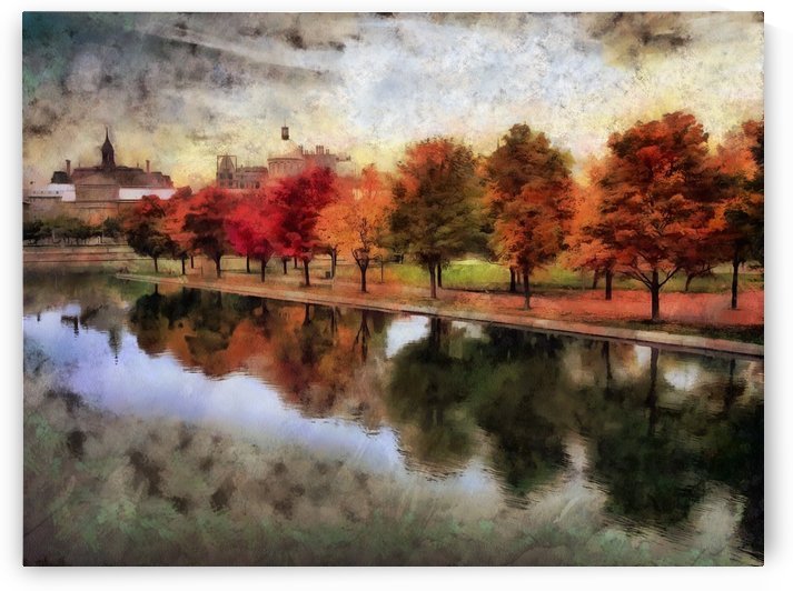 Fall in Old Montreal by Robert Knight