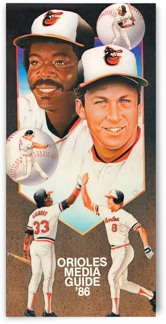 1986 Baltimore Orioles Media Guide Canvas by Row One Brand